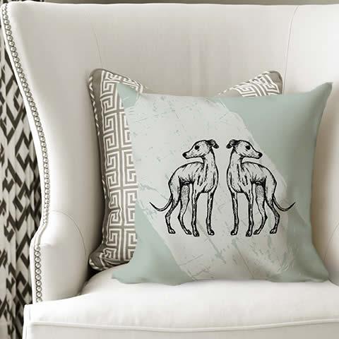 Hound Cushion Cover