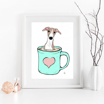 Pup of Coffee Illustration