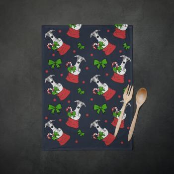 Pup of Cheer Tea Towel